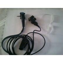 ACH204B-Y3A CLEAR TUBE EARPHONE