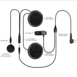FULL FACED HELMET EARPIECE / for  Motorola XT and DP radios