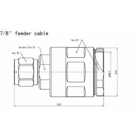"""N MALE FOR 7/8"""" FEEDER CABLE"""