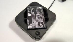 Motorola CLR446 adóvevő akkumulátor külső töltése